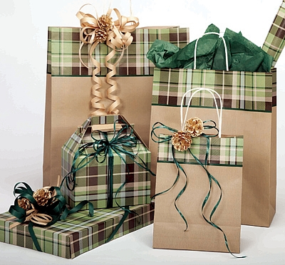 Green Plaid Bags