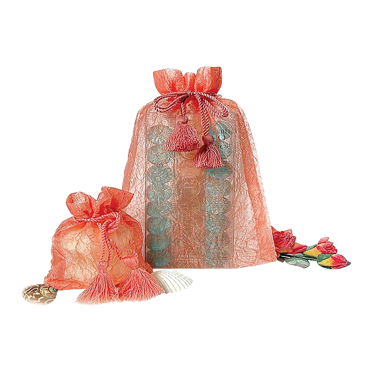 Pink Crinkle Organza Pouch
