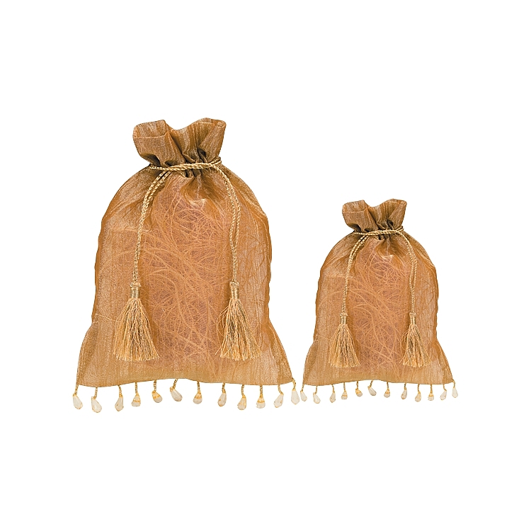 Gold Shimmer Organza Pouches.