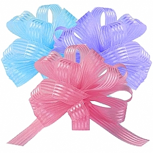 Satin Stripe Pull Bows