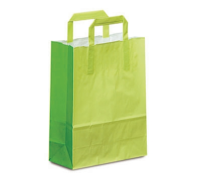 Paper Handle Colour Tone on White Bags