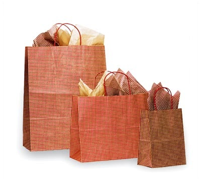 Paper Bags Gingham Pattern
