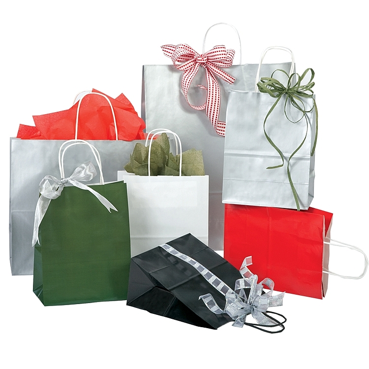 Colour Tone On White Gloss Shopping Bags