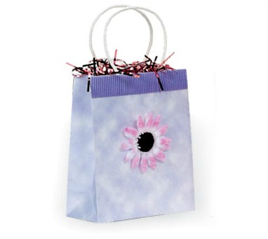 Flower Paper Bags - Light Blue