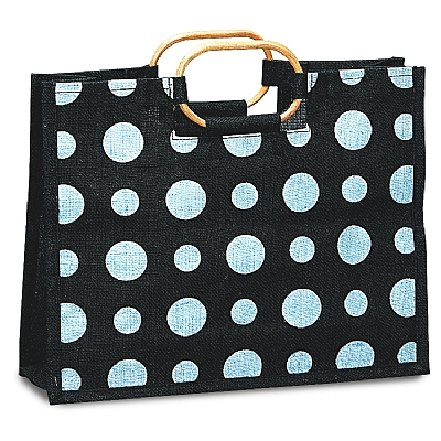 Polka Dot Jute Bag