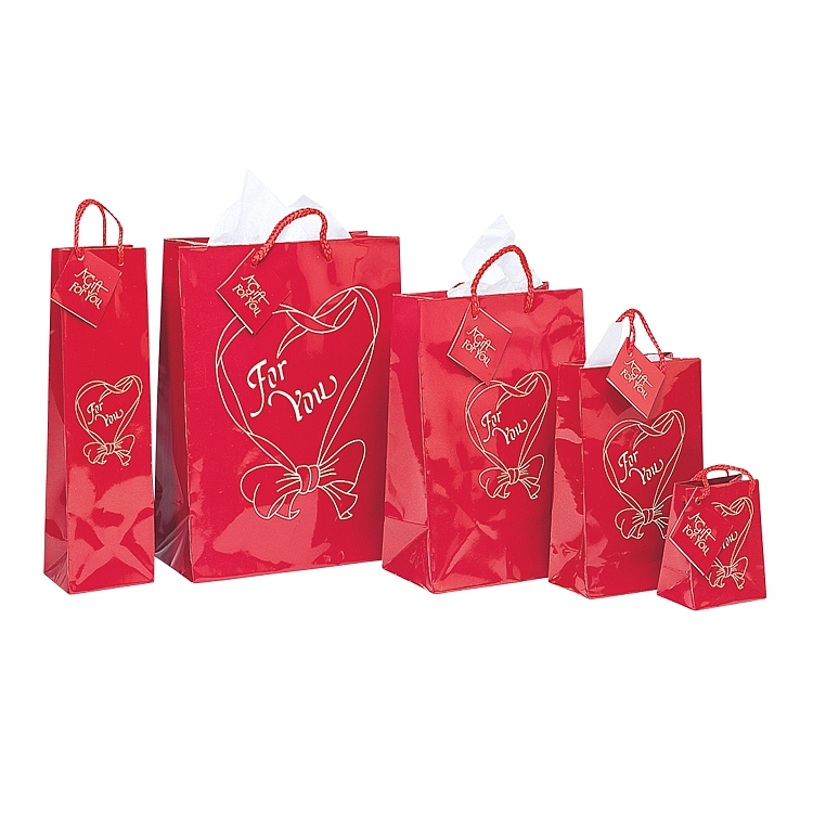 Red Heart Design Bags