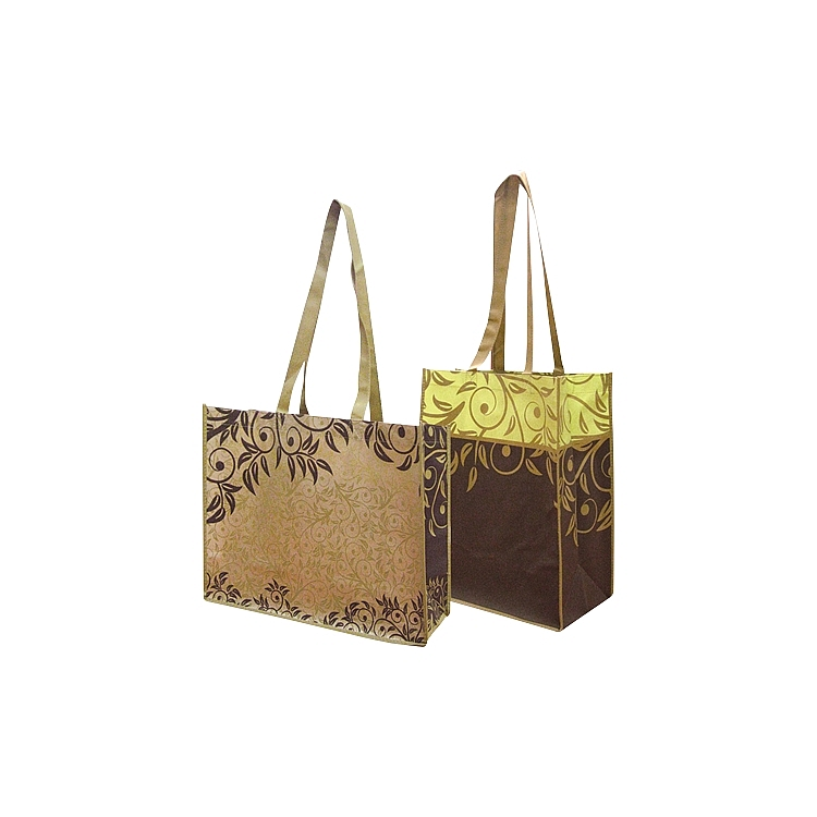 Brown Leaves Non Woven Bag