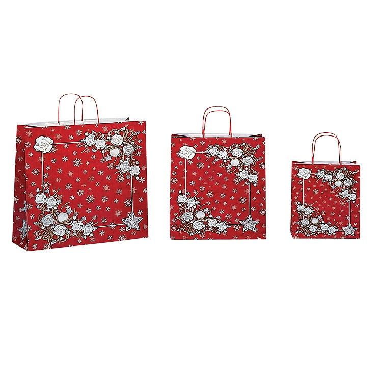 Snowflake Flower - Paper Shopping Bags