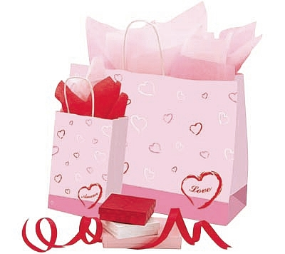 Valentines Theme Paper Bags