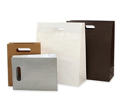 Paper Bags with Die Cut Handles