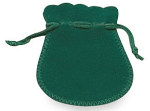 Suedine Pouches - Green