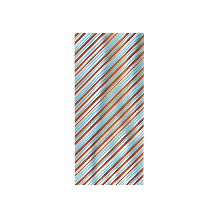 Aqua and Brown Stripes