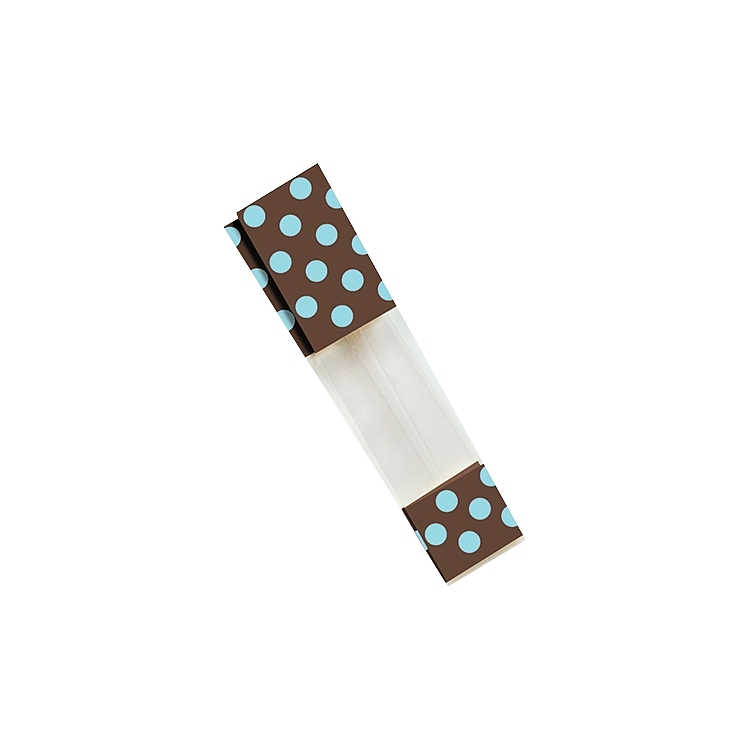 Chocolate and Light Blue Dots