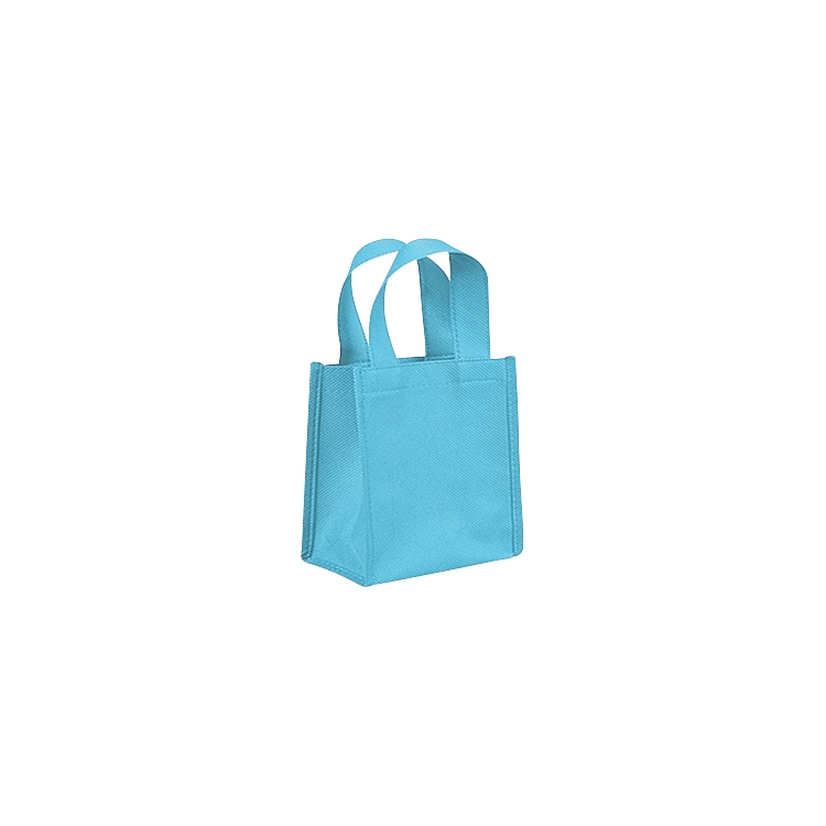 Non Woven Bags with Loop Handle - Aqua