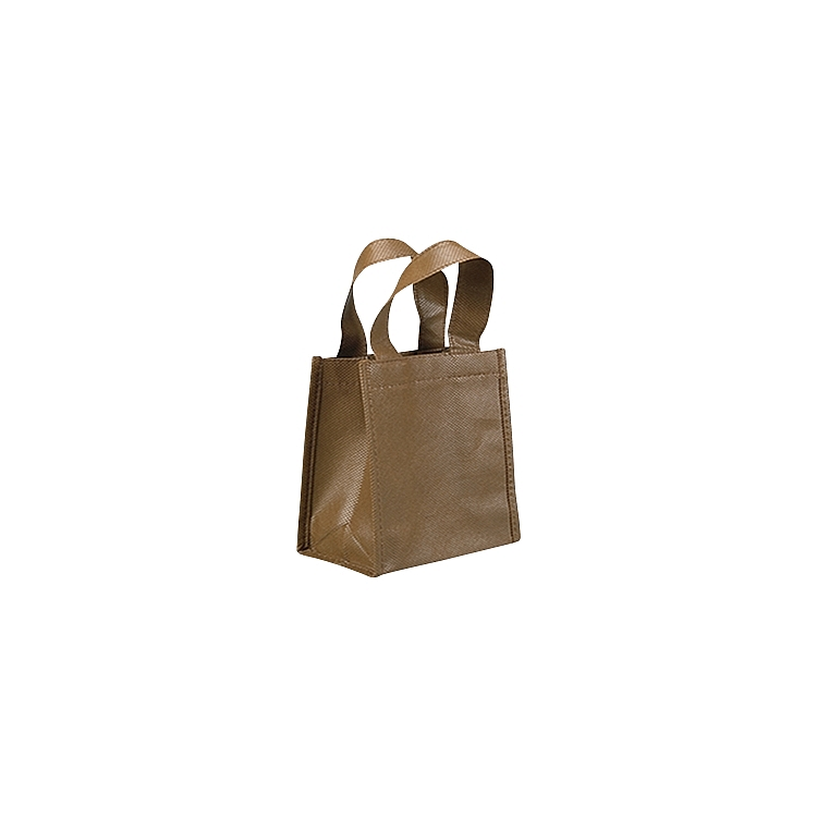 Non Woven Bags with Loop Handle - Brown