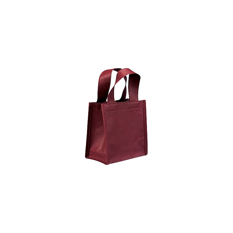 Non Woven Bags with Loop Handle - Burgundy