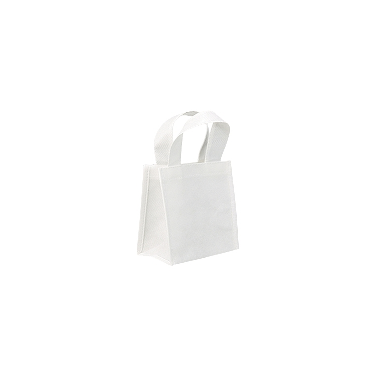 Non Woven Bags with Loop Handle - White