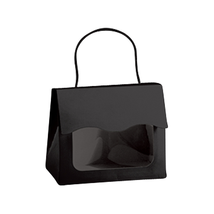 Window Tote Boxes with Rope Handle - Black