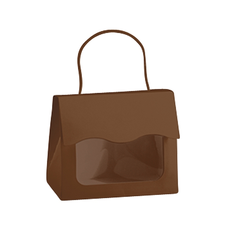 Window Tote Boxes with Rope Handle - Chocolate