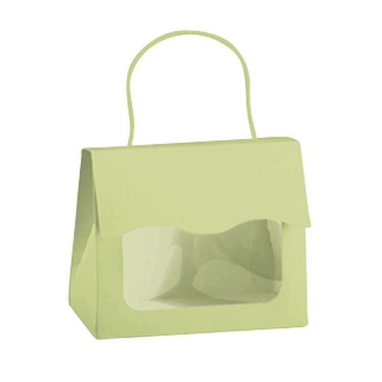 Window Tote Boxes with Rope Handle - Pistachio