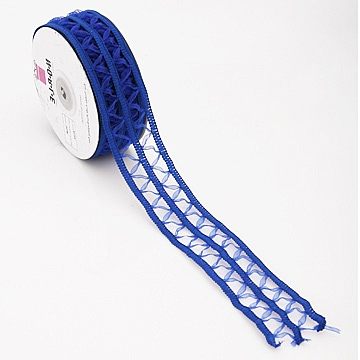 Wired Lace Ribbon - Blue