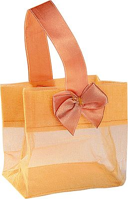 Organza Pouches with Satin Handle - Gold