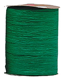 Raffia Ribbon - Matt Finish - Hunter Green