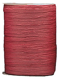 Raffia Ribbon - Matt Finish - Burgundy