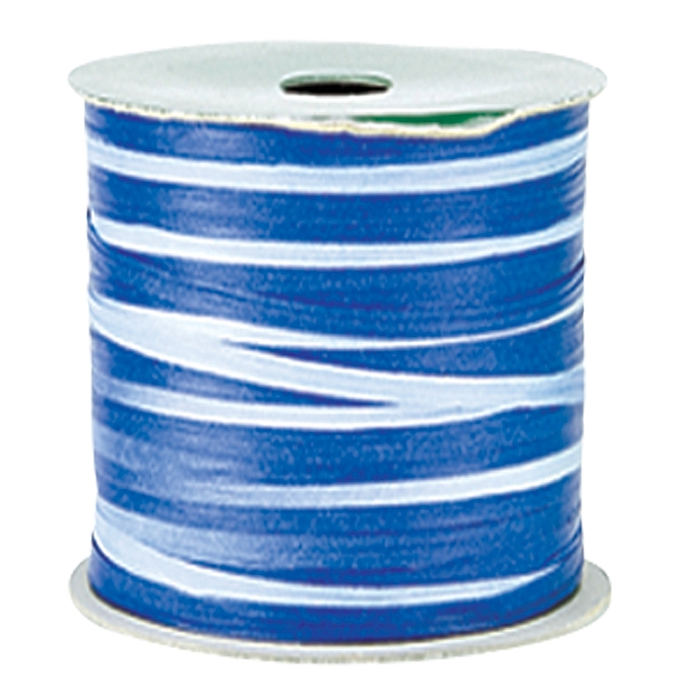 Variegated Paper Raffia Ribbons - Blue