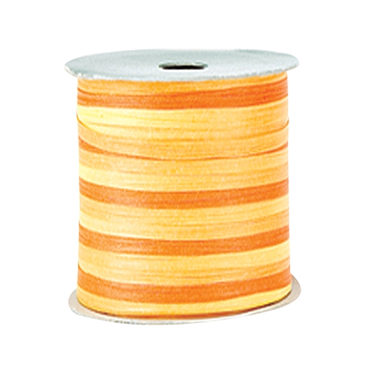 Variegated Paper Raffia Ribbons - Yellow
