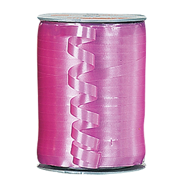 Self Curling Satin Ribbon - Fuschia