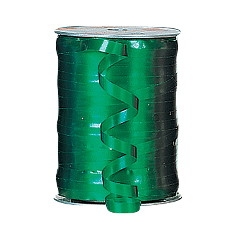 Self Curling Satin Ribbon - Green