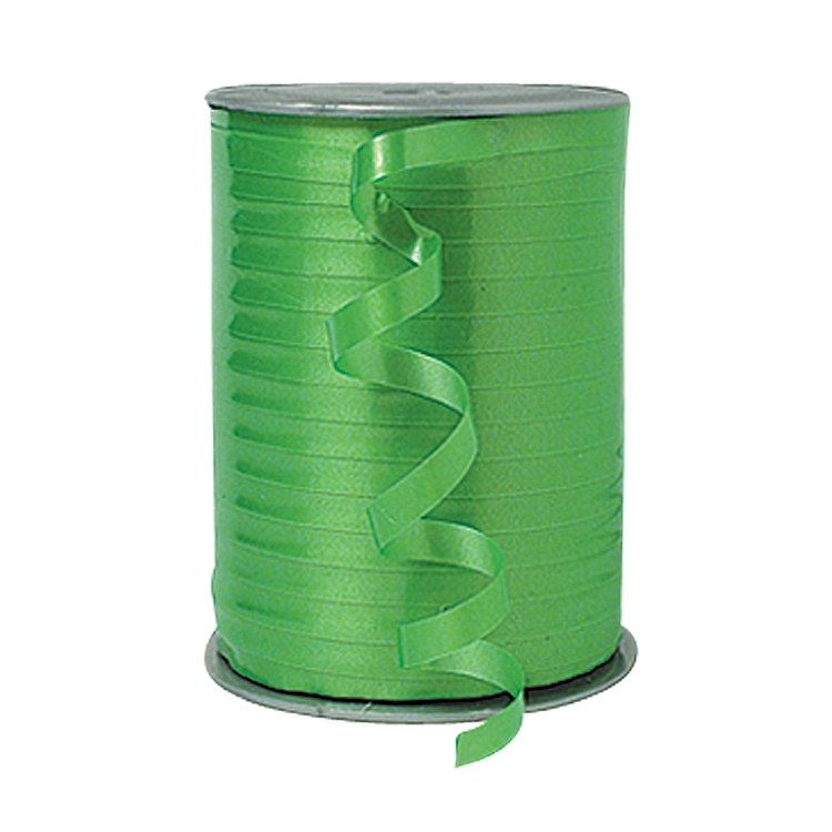 Self Curling Satin Ribbon - Lime