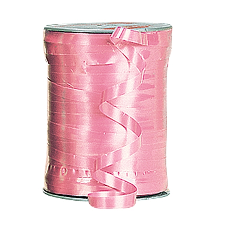 Self Curling Satin Ribbon - Pink