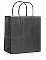 Colour Tone on White Shopping Bags - Black