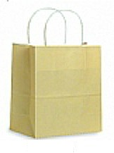 Colour Tone on White Shopping Bags - Cream