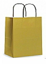 Colour Tone on White Shopping Bags - Honey Mustard