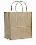 Colour Tone on White Shopping Bags - Kraft