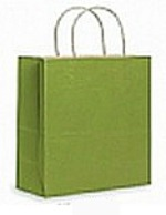 Colour Tone on White Shopping Bags - Kiwi