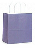 Colour Tone on White Shopping Bags - Lavender
