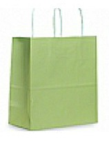 Colour Tone on White Shopping Bags - Mint