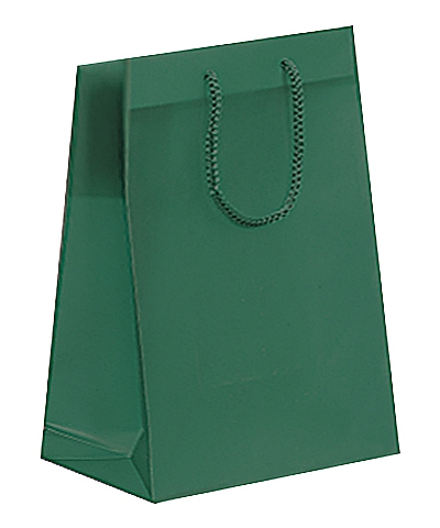Frosted Plastic Tote Bags - Dark Green