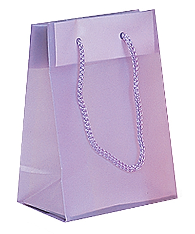 Frosted Plastic Tote Bags - Lavender
