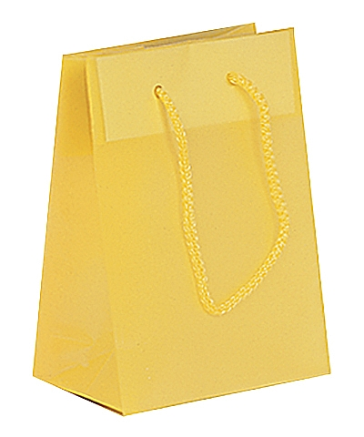 Frosted Plastic Tote Bags - Yellow