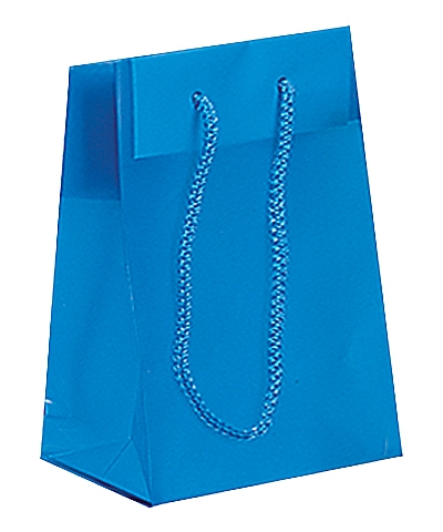 Frosted Plastic Tote Bags - Blue