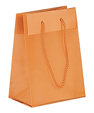 Frosted Plastic Tote Bags - Orange