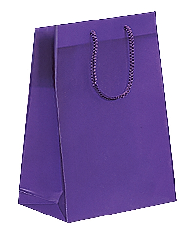 Frosted Plastic Tote Bags - Purple