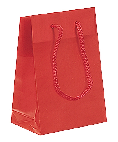 Frosted Plastic Tote Bags - Red
