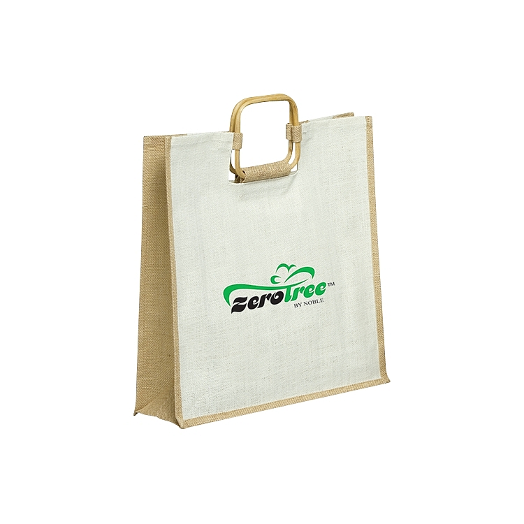 Cane Handle Jute Tote Bags