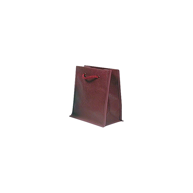 Rope Handle Non Woven Bags - Burgundy